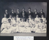 Historic photo of First Lutheran Church confirmation class